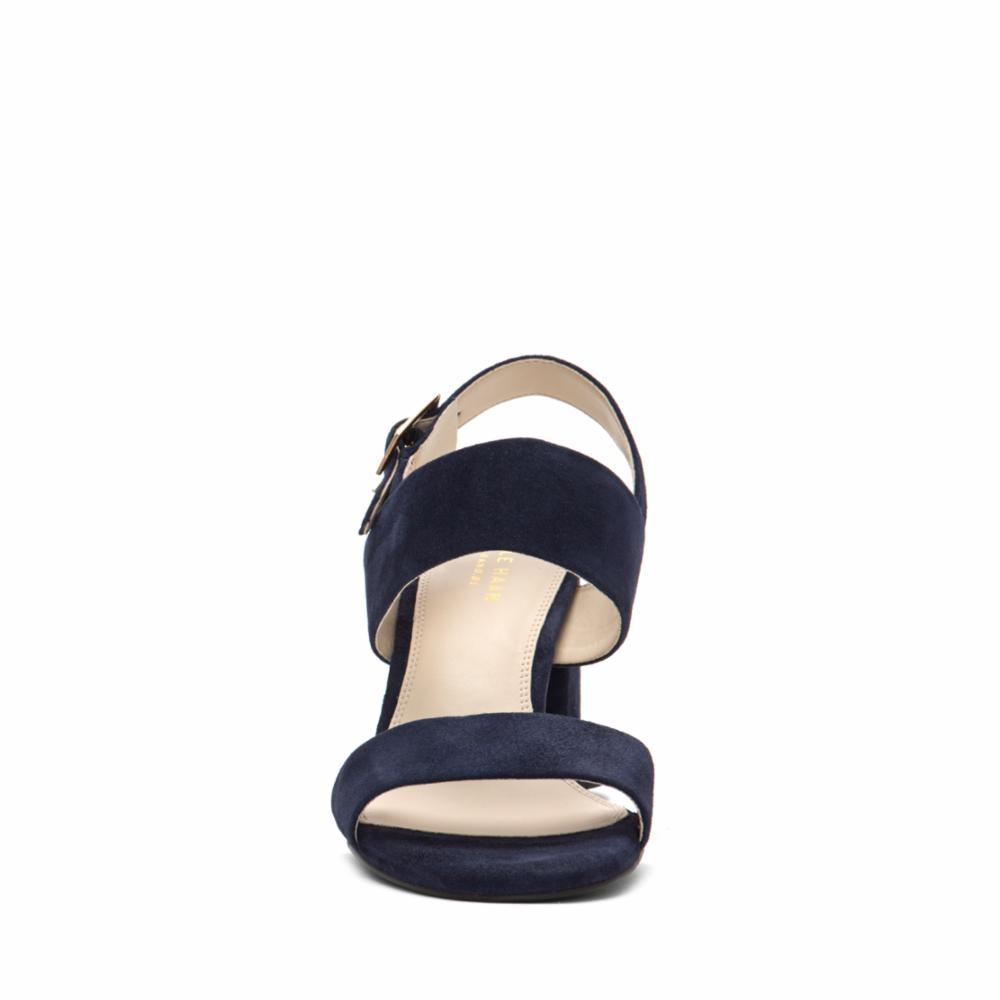 eb93736f23a Cole Haan Women s G.Os Avani City Sandal 65Mm W10070 Marine Blue Suede M  Sandals Clothing