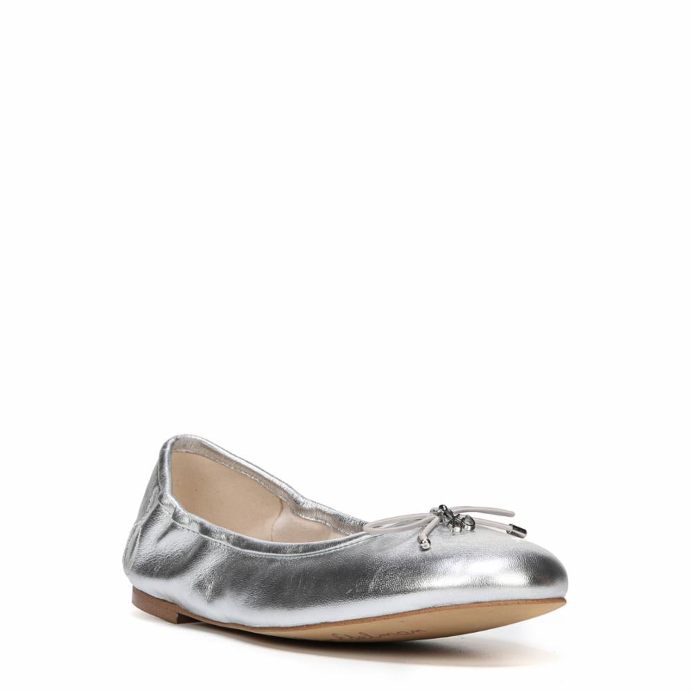 7ef770e79c0c4 Sam Edelman Felicia Womens Size 6 Silver Leather Ballet Flats Shoes  New display. Be the first to write a review. About this product. Picture 1  of 5  Picture ...